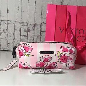 VICTORIA'S SECRET MAKEUP BAG COSMETICS CASE FLOWER